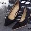 รองเท้าคัทชูส้นโลหะทรงหัวแหลม (สีดำ) thumbnail 6