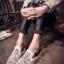 รองเท้าผ้าใบเสริมส้นแต่งลายลูกไม้ (สีขาว) thumbnail 2