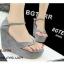 รองเท้าส้นเตารีดแบบคีบ (สีเทา) thumbnail 3