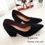 รองเท้าคัทชูส้นตันทรงหุ้มส้น (สีดำ) thumbnail 4