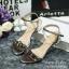พร้อมส่ง : รองเท้ารัดส้นประดับเพชร (สีเงิน) thumbnail 3