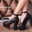 รองเท้าคัทชูส้นตึก (สีดำ) thumbnail 3