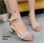รองเท้าส้นตันรัดข้อ (สีเทา) thumbnail 1