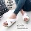 รองเท้าส้นเตารีดสวมไข้ว (สีครีม) thumbnail 4