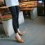 รองเท้าคัทชูหัวแหลมแต่งโบว์ (สีน้ำตาล) thumbnail 2