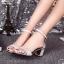 พร้อมส่ง : รองเท้ารัดส้นผ้ากากเพชร (สีทอง) thumbnail 5