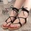 รองเท้าแตะพันขาสไตล์โบฮีเมียน (สีดำ) thumbnail 1
