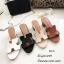 รองเท้าแตะสวมเสริมส้น Style Hermes (สีครีม) thumbnail 22