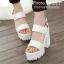 รองเท้าส้นตึก Style Nanda (สีขาว) thumbnail 3