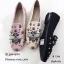 รองเท้าคัทชูทรงสวมปักลายผึ้ง Style Gucci (สีดำ) thumbnail 18