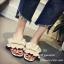 รองเท้าแตะจีบแต่งมุก (สีชมพู) thumbnail 3