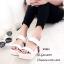 รองเท้าส้นเตารีดเมจิกเทปแต่งลาย (สีขาว) thumbnail 2