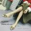 รองเท้าคัทชูแต่งอะไหล่เพชรผีเสื้อ (สีดำ) thumbnail 6