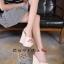 รองเท้าส้นเตารีดสวมแต่งหมุด (สีชมพู) thumbnail 13