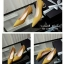 รองเท้าคัทชูส้นปรอทเงินสไตล์เกาหลี (สีเหลืองมัสตาร์ด) thumbnail 4