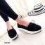 รองเท้าผ้าใบลูกไม้ติดโบว์ทรง Sport (สีดำ) thumbnail 3