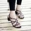 รองเท้าส้นตันแต่งอะไหล่ Style Zara (สีตาล) thumbnail 5