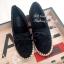 รองเท้าผ้าใบลูกไม้แต่งโบว์ (สีดำ) thumbnail 4