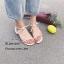 รองเท้าแตะเสริมส้นแต่งสายผูก (สีครีม) thumbnail 4