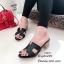 รองเท้าแตะสวมเสริมส้น Style Hermes (สีครีม) thumbnail 12