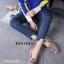 รองเท้าคัทชูทรงสวมปักลายผึ้ง Style Gucci (สีดำ) thumbnail 12