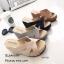 รองเท้าส้นเตารีดหน้าสานสไตล์ลำลอง (สีดำ) thumbnail 9
