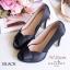 รองเท้าคัทชูซาตินเปิดเท้า (สีดำ) thumbnail 1