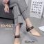 รองเท้าหัวแหลมรัดส้นแต่งเข็มขัด (สีขาว) thumbnail 8