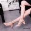 รองเท้าคัทชูส้นตันหนังเงาสไตล์ Valentino (สีชมพู) thumbnail 1