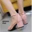 รองเท้าส้นตันรัดข้อ (สีเทา) thumbnail 15