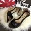 พร้อมส่ง : รองเท้าส้นเตารีดแบบรัดส้น (สีครีม) thumbnail 3