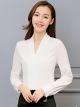 เสื้อทำงานผู้หญิงสีขาว แขนยาว รหัสสินค้า 4-145RX-ขาว