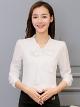 เสื้อทำงานผู้หญิงสีขาว แขนยาว รหัสสินค้า 4-146RX-ขาว